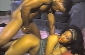 Vintage ebony blowjob