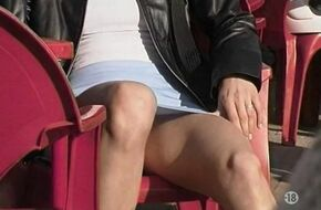 Exhibitionist upskirt