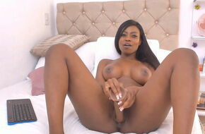 Young black teen squirting
